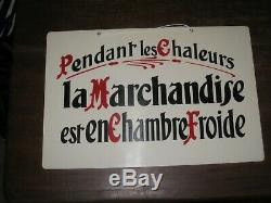 Rare Authentique Ancienne Grande Etiquette Panneau Boucherie Charcuterie