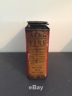 Rare Bidon Dhuile Ancien AERO No Plaque Émaillée Oil Can Öldose