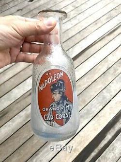 Rare Carafe Serigraphiee Un Napoleon Vin Cap Corse. Tbe