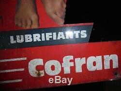 Rare PIN-UP huiles COFRAN signé ASLAN superbe état 53cm