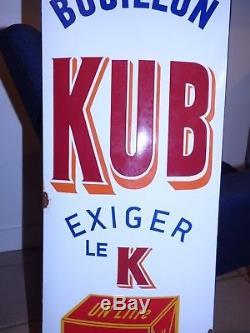 Rare Plaque Emaillee Ancienne Kub Superbe Etat