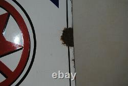 Rare Plaque Emaillee Bombee La Meuse Bieres Email Japy