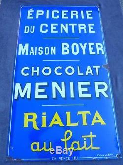 Rare Plaque Emaillee Chocolat Menier