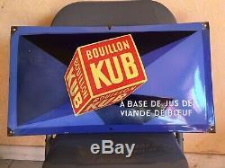 Rare Plaque Emaillée Kub Sepo