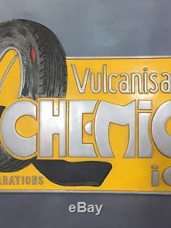 Rare Plaque Publicitaire Ancienne Chemico En Fonte Alu De 64 CM De Long