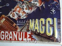 Rare Plaque Publicitaire Tôle Gaufrée Maggi B Boloch 1950
