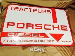 Rare Plaque Tracteur Porsche diesel