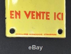 Rare Plaque de propreté émaillée CONFIDENCES / Émaillerie Alsacienne Strasbourg