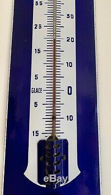 Rare Plaque émaillée Baromètre Thermomètre Potasse dAlsace Hansi TBE