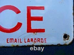Rare Plaque émaillée Cycles GOOD'S Agence émaillerie LABORDE Coq