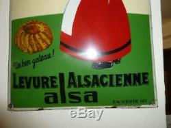 Rare Plaque emaillee bombee ancienne alsacienne etat exceptionnel