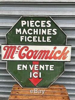 Rare Tole Materiel Agricole MC Cormick Tracteur Piece Machine Ficelle Double