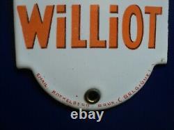 Rare ancienne plaque de propreté émaillée chicorée Williot