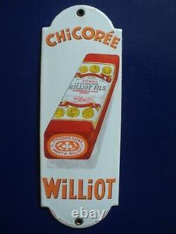 Rare ancienne plaque de propreté émaillée chicorée Williot Achat immédiat