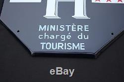 Rare ancienne plaque emaillee HOTEL de Tourisme 3 etoile nouveau classement 2000