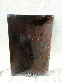 Rare ancienne plaque émaillée LA POULE AU POT, années 1935 / 1940