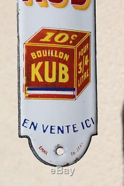 Rare ancienne plaque émaillée de propreté bouillon kub tricolore émail Ed Jean