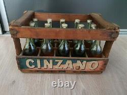 Rare caisse Cinzano 15 Mignonnettes anciennes no plaque émaillée bar bistrot