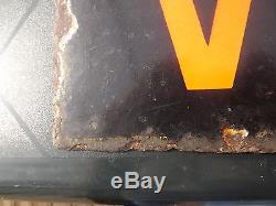 Rare et ancienne plaque emaillee double faces  ancien velo no ancienne affiche