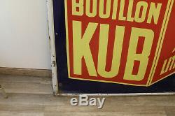 Rare et grande plaque émaillée kub en excellent état eas strasbourg