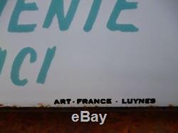 Rare et magnifique plaque émaillée ancienne LAINES DE BECASSINE 48 x 33 cm