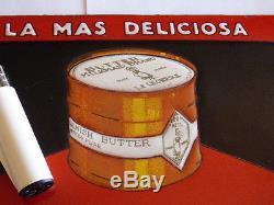 Rare plaque emaille nestle la lechera mantequilla danesa