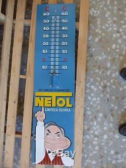 Rare plaque emaillee 1940 thermometre NETOL, Bel etat. Plurima barcelona