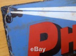 Rare plaque émaillée Bombée Philips année 30