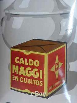 Rare plaque émaillée CaldoMaggi, Nestlé 1920, emailschild, porcelain sign