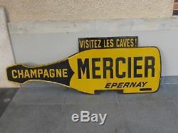 Rare plaque émaillée Japy Champagne MERCIER double face BEC