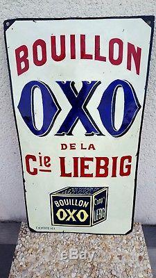 Rare plaque emaillee OxO