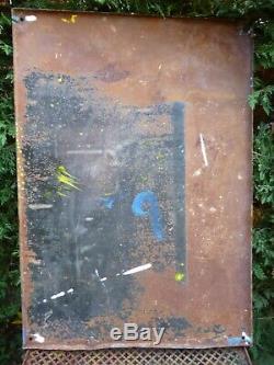 Rare plaque émaillée ancienne 1935 EAS, biére LA PERLE à Strasbourg 68 x 48 cm