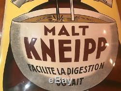 Rare plaque émaillée ancienne Malt Kneipp de Beuville 1925