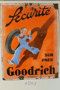 Rare plaque émaillée goodrich signé par Géo Ham, EAS strasbourg