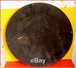 Rare plaque émaillée pneus DUNLOP bombée circa 1930 Bon état