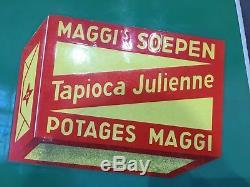 Rare plaque émaillée potages Maggi Tapioca Julienne