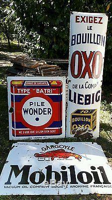Rare plaque émaillée OXO LIEBIG bombée 1M70