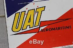 Rare plaque émaillée UAT aéromaritime aviation émaillerie alsacienne strasbourg