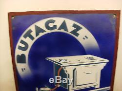 Rare plaque émaillée ancienne, réchauds Godin, Butagaz
