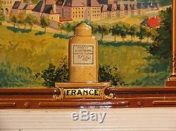 Rare plaque tôle litho Liqueurs Grande Chartreuse Etat Neuf