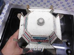 Rare presentoire Hollywood chewing gum avec 4 pin up en tole de Brenot