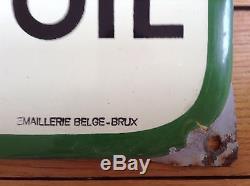 Rare thermomètre émaillé BP déco garage bel état daté 1952