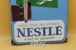 Rare thermomètre émaillée Nestlé état neuf d'époque, eas strasbourg