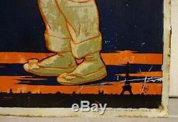 Rare tole ancienne L'ASTROLIN signée Ogé 1908 no plaque émaillée kub maggi boite