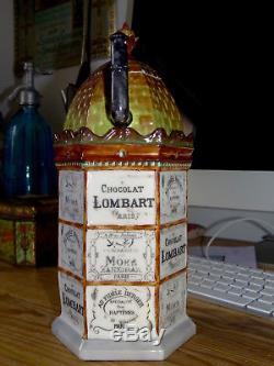Rarissime Kiosque Chocolat Lombart Tisaniere Publicitaire 1900