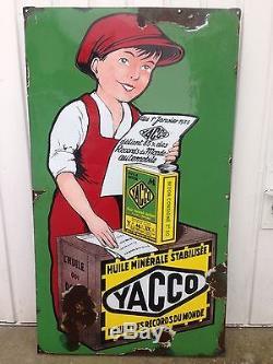 Rarissime Plaque Yacco 1930