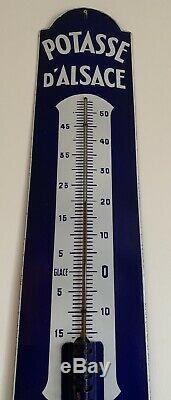 Rarissime plaque emaillee ancienne Parfait État Thermomètre Potasse d Alsace