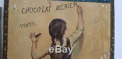 Rarissime tôle Ancienne no Plaque Emaillée Chocolat Menier 1900 jamais vu