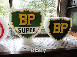 Reedition opaline BP Super grand modele pour pompe a essence ancienne