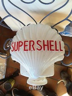 Reedition opaline Dieso Shell pour pompe a essence ancienne